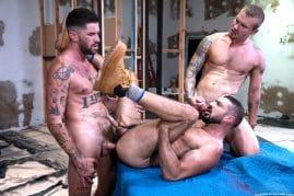 Raging Stallion gay porn threesome