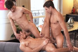 Threesome gay porn pictures from Belami Online