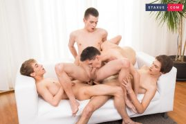 Twink group sex