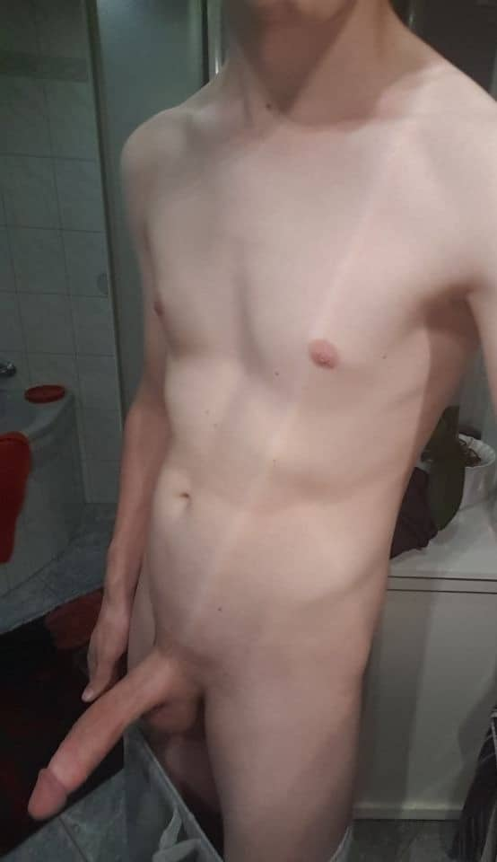 Nude boy self picture